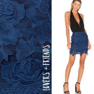Lovers And Friends Mini Incense Floral-Lace Skirt